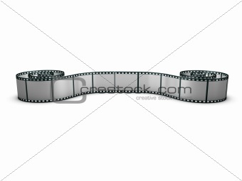 Rolled out film strip