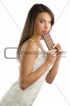 black chocolate white dress
