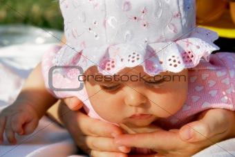 close up baby portrait