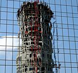 Construction Tower Reflection