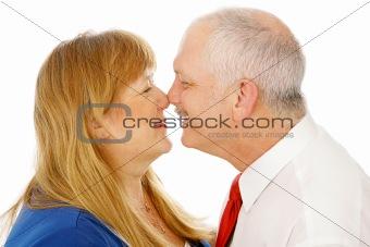 Mature Couple Rubbing Noses