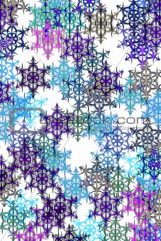 pattern with snow
