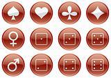 Games icons set.