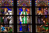 Saint Peter Stained Glass Close St. Patrick's Cathedral New York