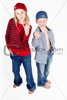 shot of two kids
