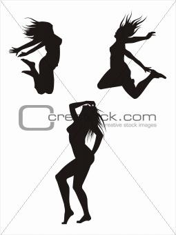 Three silhouetes