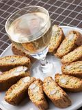 Hazelnut Cantuccini Biscotti with Dessert Wine