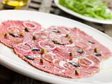 Carpaccio of Beef Fillet with Rocket salad