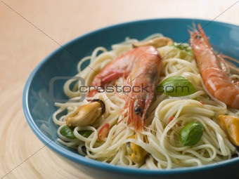 Bowl of Shellfish Linguine