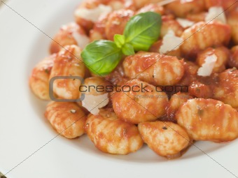 Potato Gnocchi with Tomato Ragu