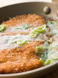 Katsu-Don cooking in A Japanese Frying Pan
