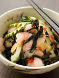 Tiger Prawn Wakame and Cucumber Salad with Ginger