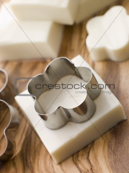 Firm Tofu on a Chopping Board