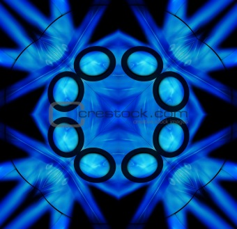 Black And Blue Tile Pattern Background