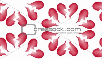 Broken Heart Seamless Tile Pattern Background