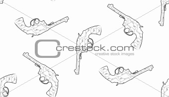 Guns Tile Pattern Background