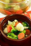 Healthy and diet food -vegetable soup