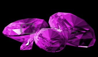 3d Amethyst Gem Isolated