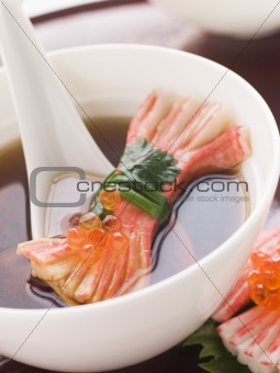 Clear Soup with Snow Crab Sticks