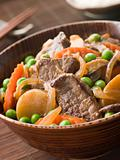 Simmered Beef Fillet and Vegetables