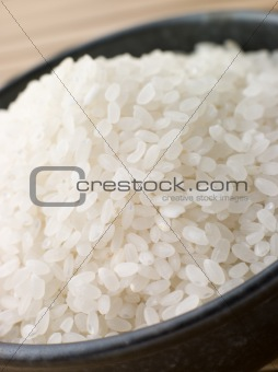 Bowl of Uncooked Sushi Rice