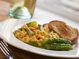 Scrambled Egg and Asparagus with Toasts