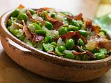 Baby Broad Beans and Ham- Jamon au Favas