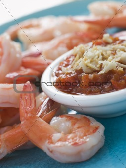 Tiger Prawns with Romesco Sauce