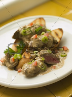 Sauteed Chicken Livers in a Sherry Sauce