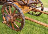 A wooden cart
