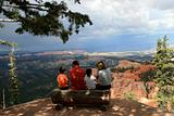 family enjoying the view of bryce canyon