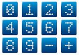 Digits square icons set.