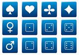 Games square icons set.