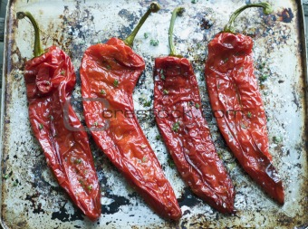 Roasted Romano Peppers