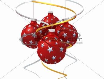Four christmas ball