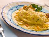 Chicken Breast with a Saffron and Almond Sauce