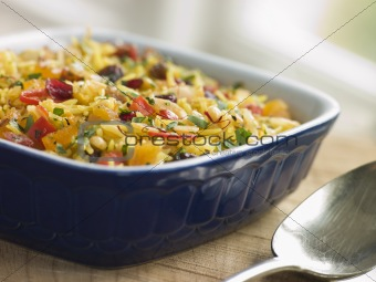 Braised Saffron Rice with Dried Fruits