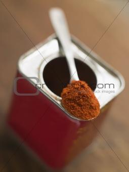 Tin of Smoked Paprika Powder