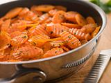 Vichy Carrots in a Saute Pan