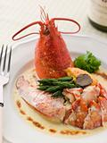 Lobster Thermidor with a Rouille Croute