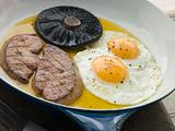 Foie Gras Eggs and Portabello Mushrooms