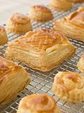 Selection of Vol au vents on a Cooling rack