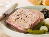 Pate Campagne with Cornichons and Confit Onions