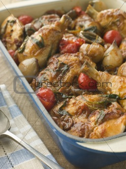 Dish of Chicken Chasseur