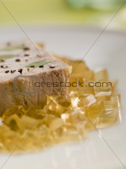 Foie Gras and Baby Leeks with Sauternes Jelly