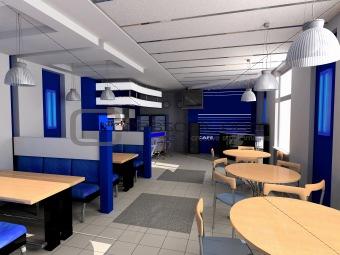 Cafe a public interior