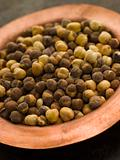 Dish of Roasted Salted Chickpeas