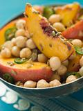 Bowl of Chick Pea and Peach Salad