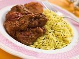 Meat Vindaloo with Pilau Rice