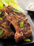 Spiced Lamb Chops with Raita - Chaamp Lajawab